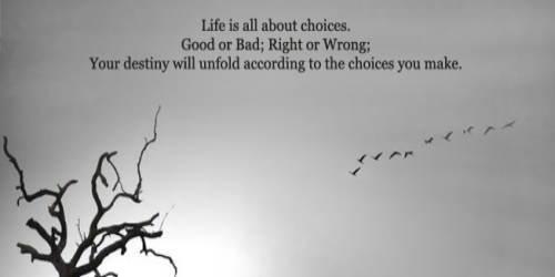 自分自身で人生を選択すること